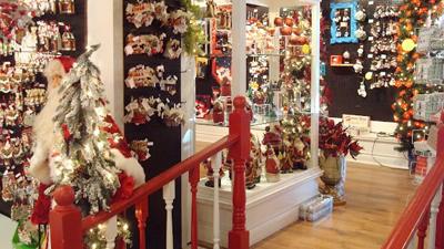 just christmas store interior